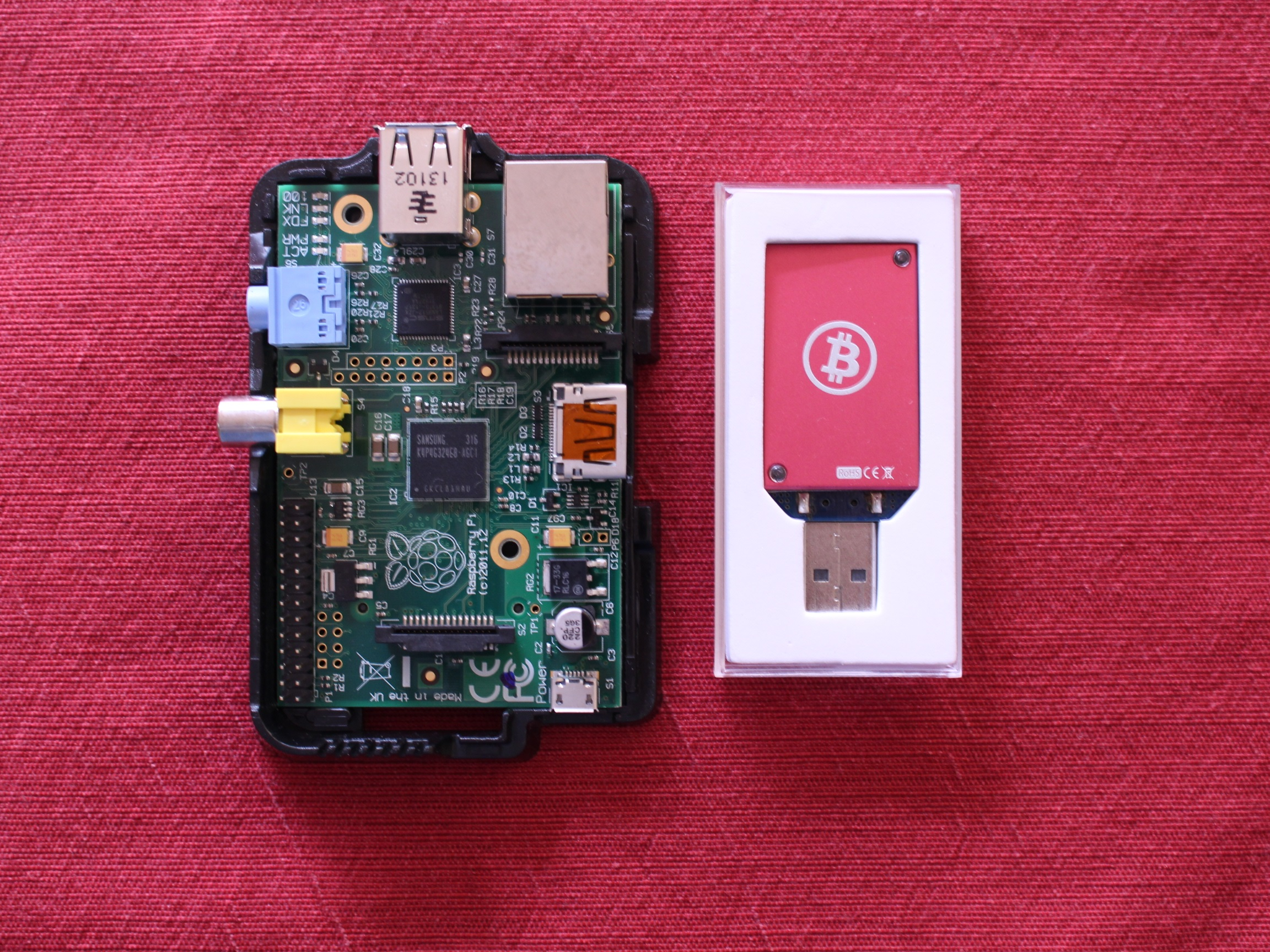 Raspberry Pi and Block Erupter